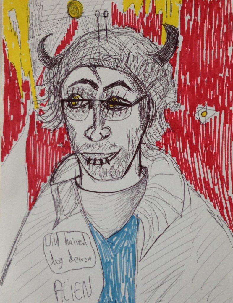 Self Portrait as Alien Dog